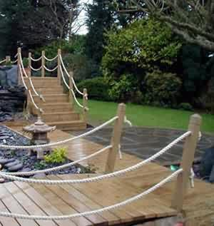 Our projects whites skip hire hull 01482 227468 for Garden decking with rope